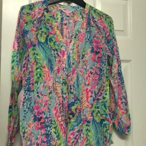 EUC Lilly pulitzer catch the wave Martinique top
